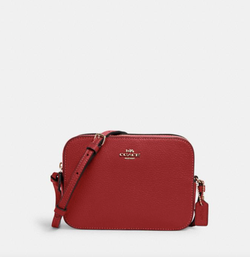 Mini Camera Bag in Red (Photo via Coach Outlet)