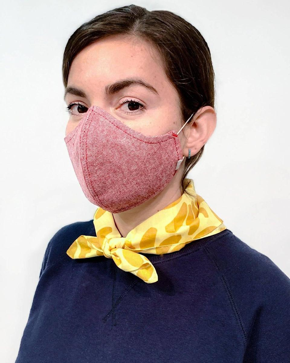 <p>This <span>Hedley &amp; Bennett The Wake Up &amp; Fight Mask</span> ($45 for three) is a no-nonsense mask that doesn't take up much space (easy to put in your pocket on a walk, for instance). It has a slot to put in a filter, and it's washable (I've washed mine several times and it still holds up). Plus, Hedley &amp; Bennett donates one for every mask purchased. Have multiples on hand when you travel.</p>