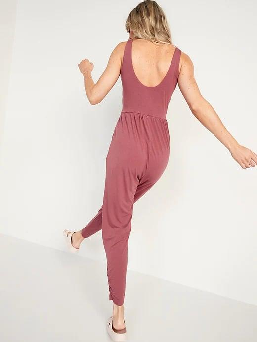 <p>Not only do all three colors of this <span>Old Navy UltraLite Sleeveless Cropped Jumpsuit</span> ($30, originally $40) also come in petite and tall, but the style also looks fab with proper shoes and a denim jacket for any post-workout brunch.</p>