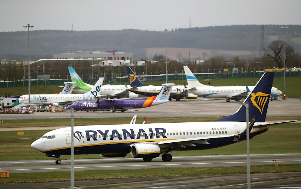 A Ryanair plane. (Nick Potts/PA Wire/PA Images)