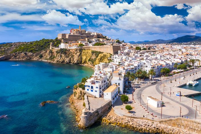The lively Ibiza Town is a must-do. (Getty Images)