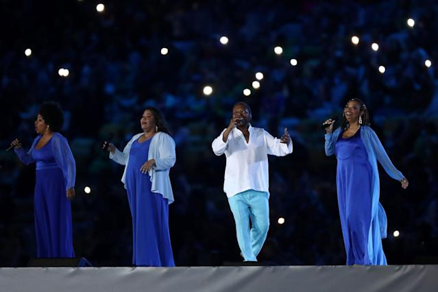 <p>Singer Marthinho Da Vila performs during the Closing Ceremony on Day 16 of the Rio 2016 Olympic Games at Maracana Stadium on August 21, 2016 in Rio de Janeiro, Brazil. (Photo by Ezra Shaw/Getty Images) </p>