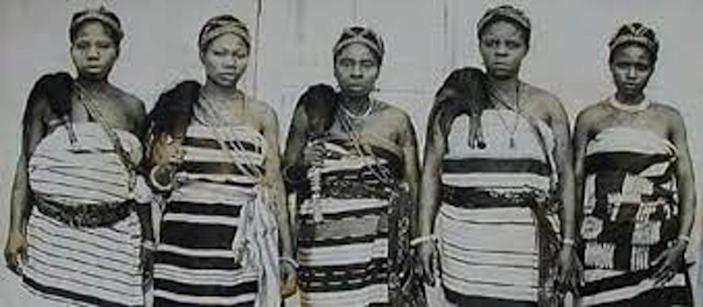 """<span class=""""caption"""">Leaders of the Aba women's protest against a tyranical warrant chief in Nigeria in 1929.</span> <span class=""""attribution""""><span class=""""source"""">National Museum of Unity, Nigeria</span></span>"""