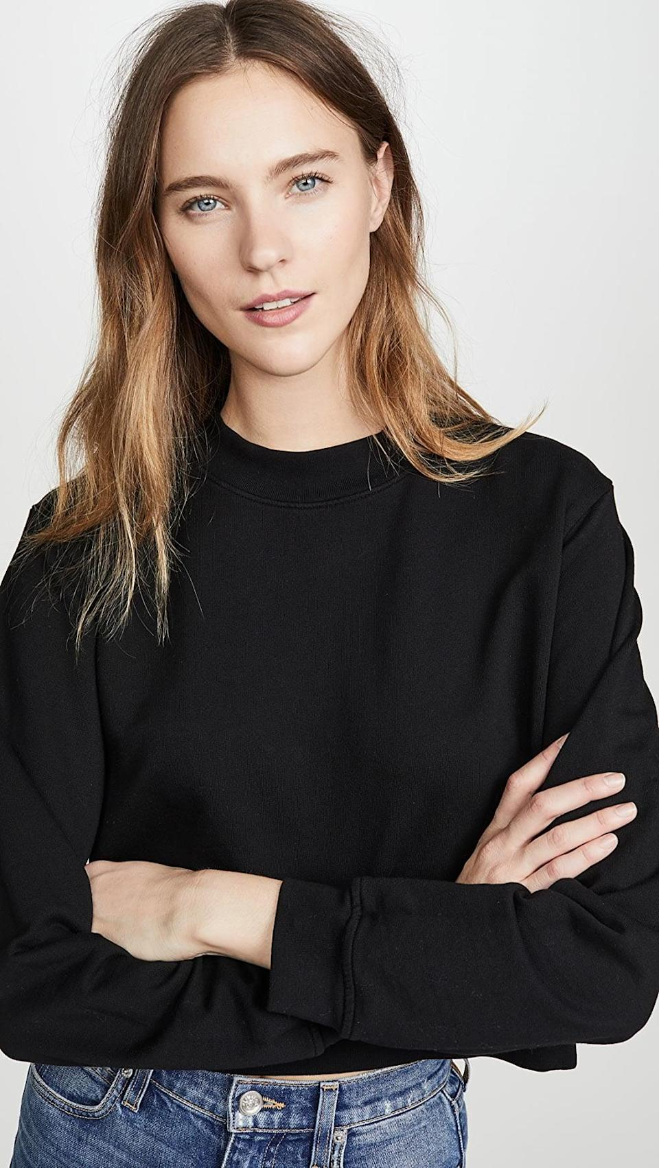 <p>This <span>Cotton Citizen Milan Cropped Sweatshirt</span> ($195) is one you'll reach for again and again. It looks just as good with leggings as it does with high waisted jeans.</p>