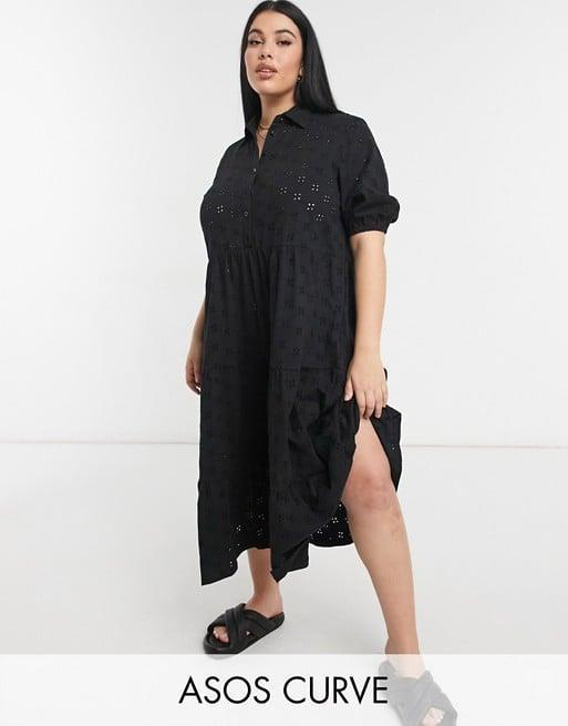 <p>Let's face it: maxi dresses are basically wearable nightgowns, and this <span>ASOS Tiered Shirt Dress</span> ($44) is just as comfortable as it is stylish. </p>