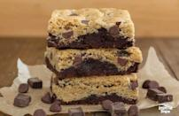 """<p>Cookies and brownies are already easy treats to make, but if you don't feel like whipping up the batter the day of, just make it ahead of time and keep it in the freezer until turkey day arrives. However, if you'd rather opt for store-bought, we've ranked the <a href=""""https://www.thedailymeal.com/eat/chocolate-chip-cookies-ranked-gallery?referrer=yahoo&category=beauty_food&include_utm=1&utm_medium=referral&utm_source=yahoo&utm_campaign=feed"""" rel=""""nofollow noopener"""" target=""""_blank"""" data-ylk=""""slk:best grocery store chocolate chip cookies"""" class=""""link rapid-noclick-resp"""">best grocery store chocolate chip cookies</a>.</p> <p><a href=""""https://www.thedailymeal.com/recipes/chocolate-chip-cookie-brownies-recipe-1?referrer=yahoo&category=beauty_food&include_utm=1&utm_medium=referral&utm_source=yahoo&utm_campaign=feed"""" rel=""""nofollow noopener"""" target=""""_blank"""" data-ylk=""""slk:For the Chocolate Chip Cookie Brownies recipe, click here."""" class=""""link rapid-noclick-resp"""">For the Chocolate Chip Cookie Brownies recipe, click here.</a></p>"""
