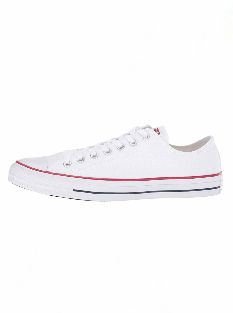 """$55, Zappos. <a href=""""https://www.zappos.com/p/converse-chuck-taylor-all-star-core-ox-optical-white/product/108000/color/3124"""" rel=""""nofollow noopener"""" target=""""_blank"""" data-ylk=""""slk:Get it now!"""" class=""""link rapid-noclick-resp"""">Get it now!</a>"""