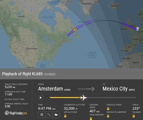 The 747 turned around after six hours in the air - Credit: flightradar24