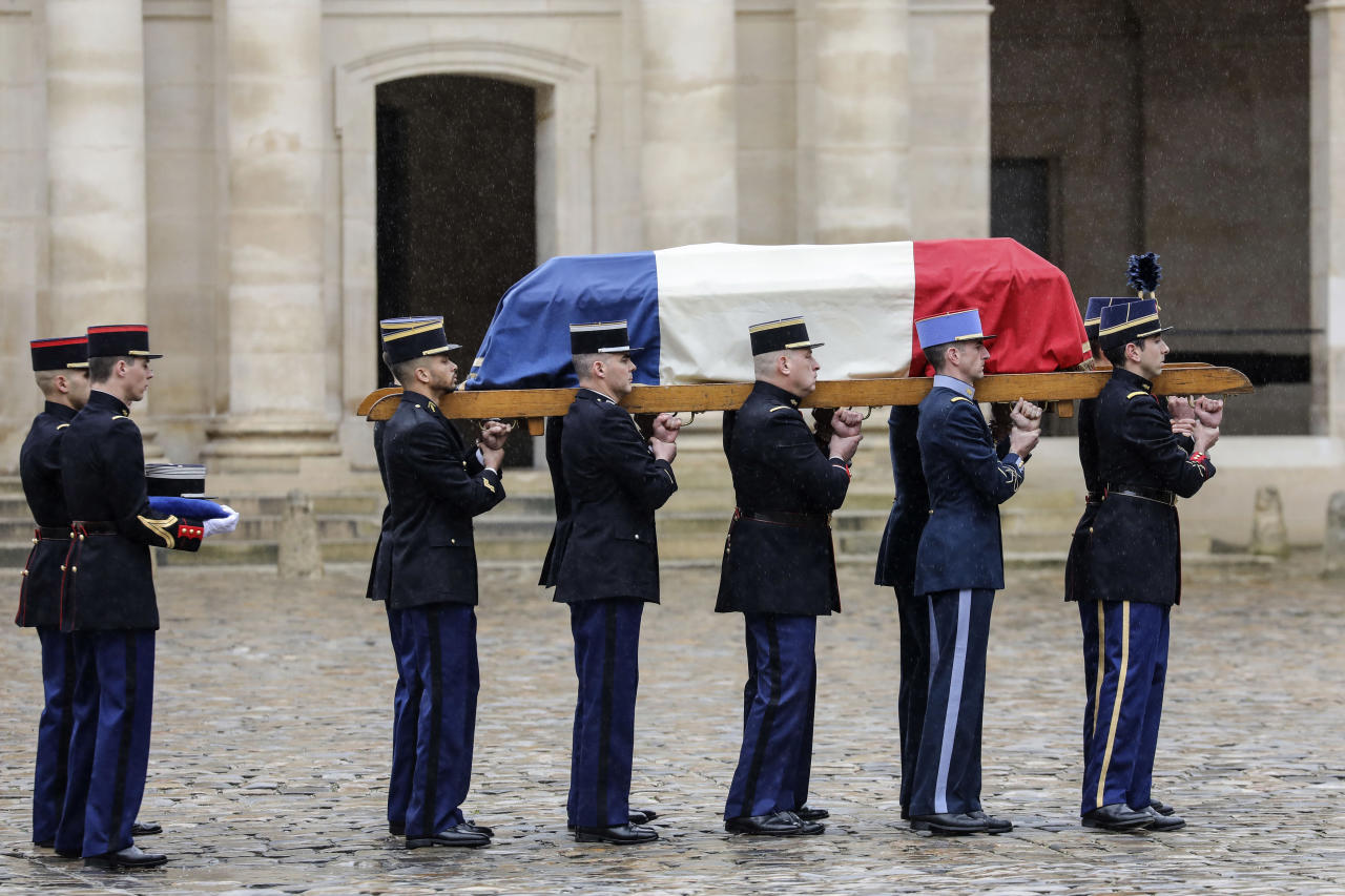 <p>The national homage includes a minute's silence in French police stations and myriad events in schools that both honour Mr Beltrame's memory and provide a focal point for national grief after last Friday's killing spree. (PA) </p>