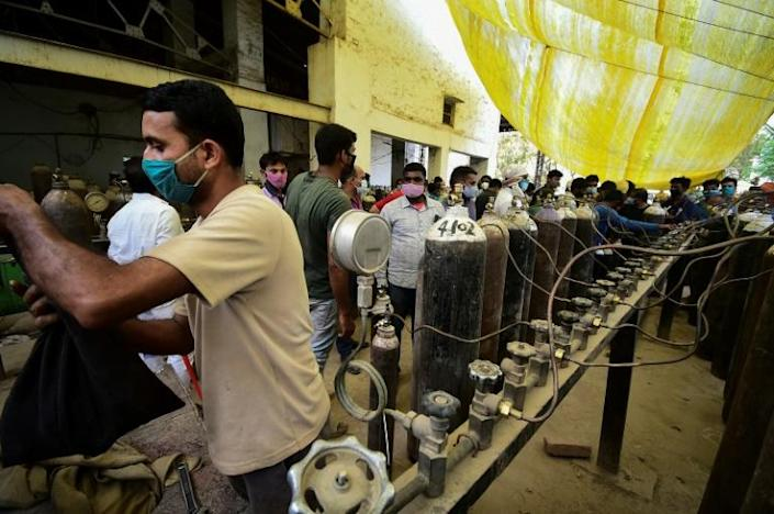 Oxygen is in high demand in India, where hospitals are overwhlemed