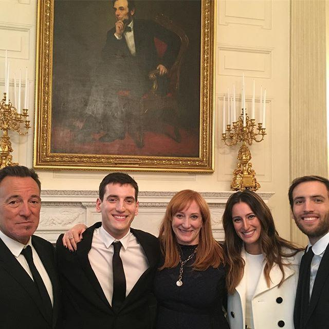 <p>The family all gathered together to celebrate their rockstar dad being honored with the Presidential Medal of Freedom in November 2016.</p>