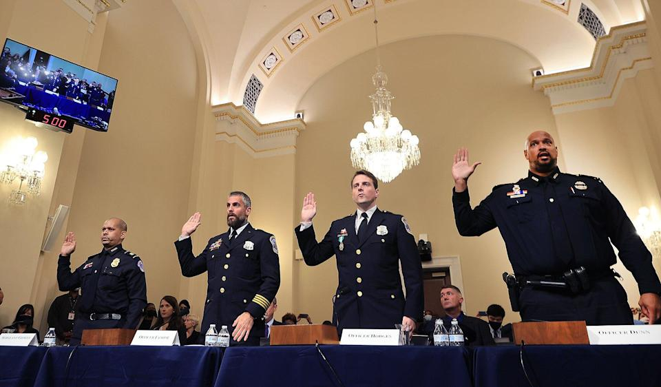 Sgt. Aquilino Gonell, DC Metropolitan Police Department officer Michael Fanone, DC Metropolitan Police Department officer Daniel Hodges and U.S. Capitol Police officer Harry Dunn