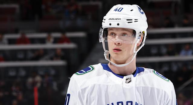 Elias Pettersson is set to return from injury a lot sooner than expected. (Photo by Jana Chytilova/Freestyle Photography/Getty Images)