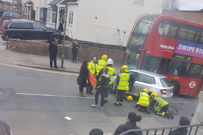 Emergency services rushed to the scene shortly after 4pm on Friday: @999London/Twitter