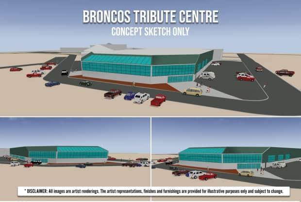The proposed $25-million tribute centre will honour the memory of the 29 victims of the Humboldt Boncos 2018 bus crash. (submitted by the City of Humboldt - image credit)