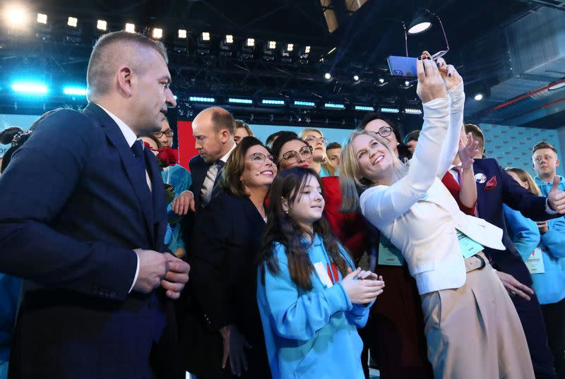 Presidential candidate Malgorzata Kidawa-Blonska attends a convention to inaugurate her election campaign in Warsaw