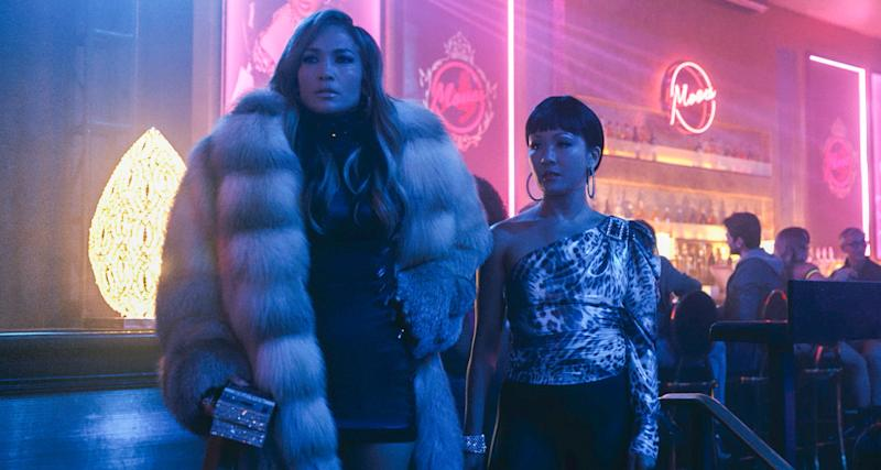 Jennifer Lopez and Constance Wu in Hustlers (Credit: STX Films)