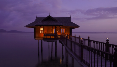 """<p>Linked by wooden walkways, the incredible sea villas at the Pangkor Laut Resort is ideal for those who want a little extra privacy. Even showering is quite the experience — the ceiling-mounted showers opens out to the sea. </p><p><a rel=""""nofollow"""" href=""""http://www.pangkorlautresort.com/accommodation.html""""><em>See more at Pangkor Laut Resort »</em></a><a rel=""""nofollow"""" href=""""http://www.pangkorlautresort.com/accommodation.html""""></a></p>"""
