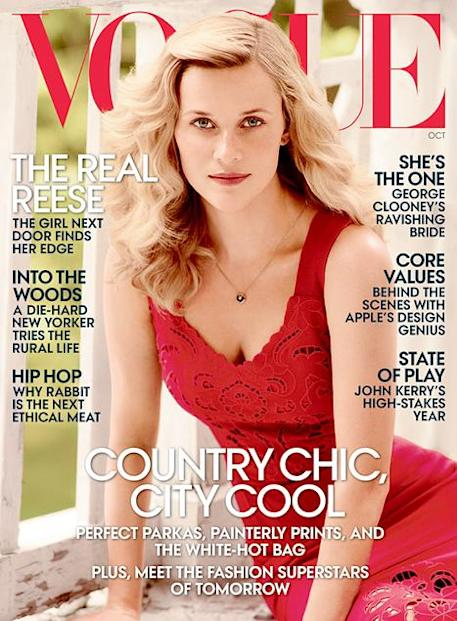 Reese Witherspoon on the cover of VOGUE