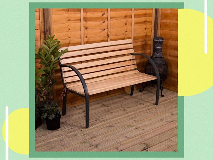 <p>Materials matter when it comes to choosing the right bench for you and wood looks naturally appropriate outdoors</p> (The Independent)