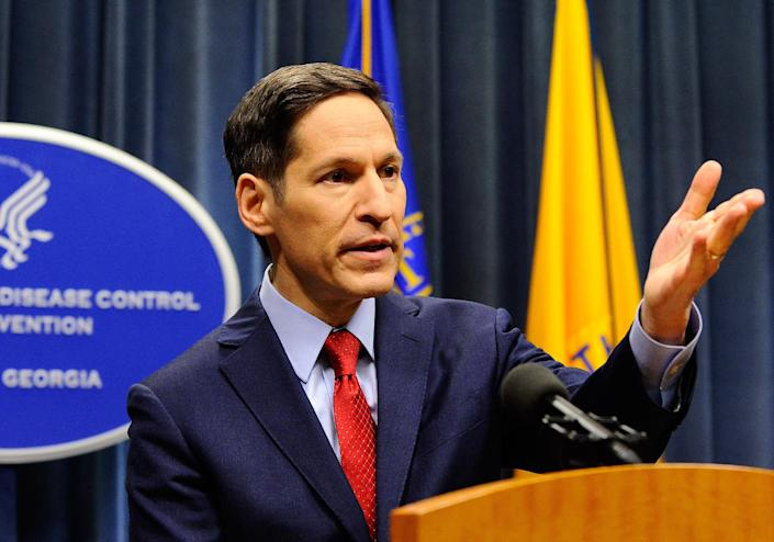 CDC director Dr. Tom Frieden during an Ebola briefing on Tuesday. (David Tulis/AP/Atlanta Journal Constitution)