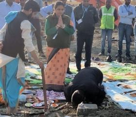Bhoomi Poojan at Indore airport: Parking space for 15 more aircrafts