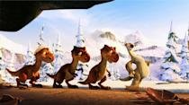 """<p><strong>What It's About:</strong> """"The prehistoric pals trade the permafrost for paradise in this third adventure in the 'Ice Age' series.""""</p> <p><a href=""""https://www.hulu.com/movie/ice-age-dawn-of-the-dinosaurs-5ec139b9-ae27-454c-83e0-81634cc4bfe0"""" class=""""link rapid-noclick-resp"""" rel=""""nofollow noopener"""" target=""""_blank"""" data-ylk=""""slk:Watch Ice Age: Dawn of the Dinosaurs on Hulu here!"""">Watch <strong>Ice Age: Dawn of the Dinosaurs</strong> on Hulu here!</a></p>"""