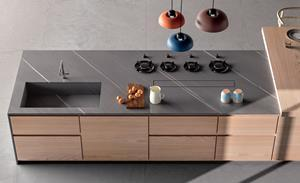 Porcelain countertop from Ceramica Fondovalle's MyTop line.