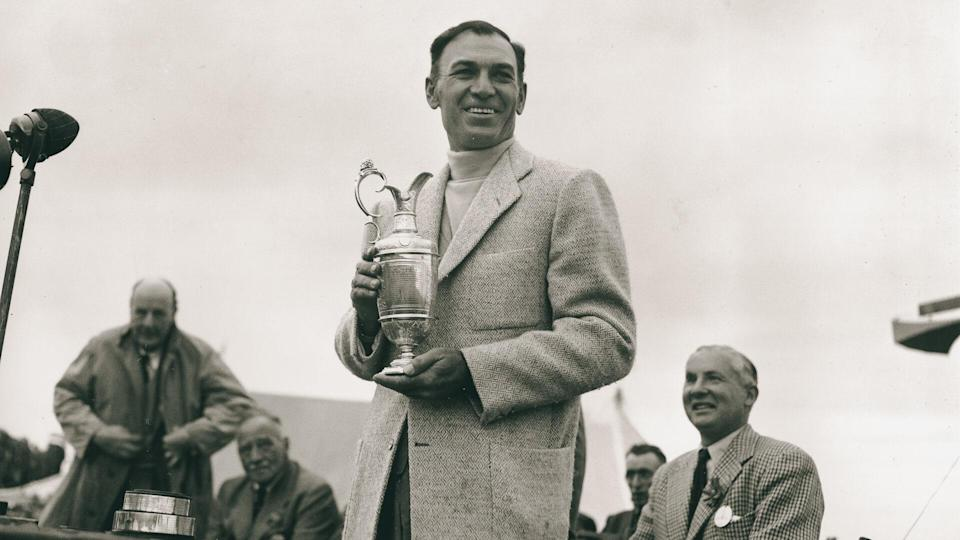 "<p>Ben Hogan's legendary career began when he joined the PGA Tour in 1931. A giant of golf remembered for his technically flawless swing, Hogan earned an incredible 64 PGA Tour victories — 13 in 1946 alone — including nine majors. He won the ""Triple Crown"" of golf in 1953 when he won three majors in one year, a feat that would only be matched by Tiger Woods in 2000. Hogan died in 1997.</p>"