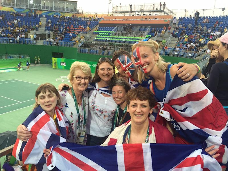 With British supporters at the 2016 Olympics in Rio de Janeiro
