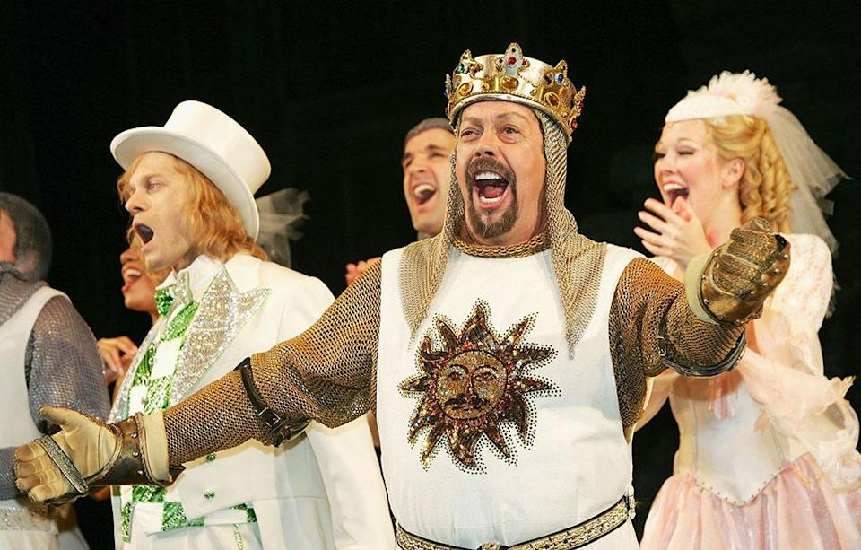 Tim Curry in Spamalot (Credit: Evan Agostini/Getty Images)