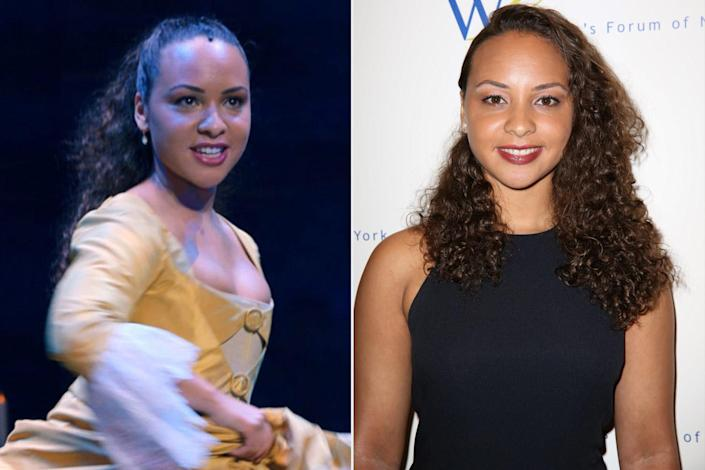 <p>Jones, who played the youngest Schuyler sister Peggy, went on to play Marisol in <em>Monsters and Men</em> (2018), Chloe in the TV series <em>Mrs. Fletcher</em> and Rachel Miller in <em>The Photograph</em> (2020). You can watch her now as Ashley Jones in former <em>Hamilton</em> co-star Daveed Diggs' <em>Blindspotting</em>.</p>