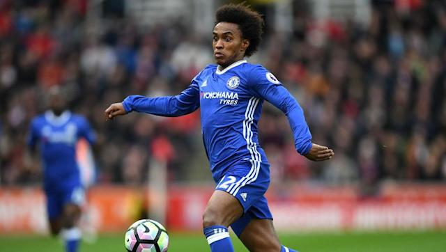 "<p>Chelsea winger Willian is the latest player to be <a href=""http://www.express.co.uk/sport/football/799798/Chelsea-transfer-news-Willian-summer-window-Antonio-Conte-Jose-Mourinho"" rel=""nofollow noopener"" target=""_blank"" data-ylk=""slk:linked"" class=""link rapid-noclick-resp"">linked</a> away from Stamford Bridge, with former boss Jose Mourinho keen to bring the Brazilian to Manchester United. </p>"