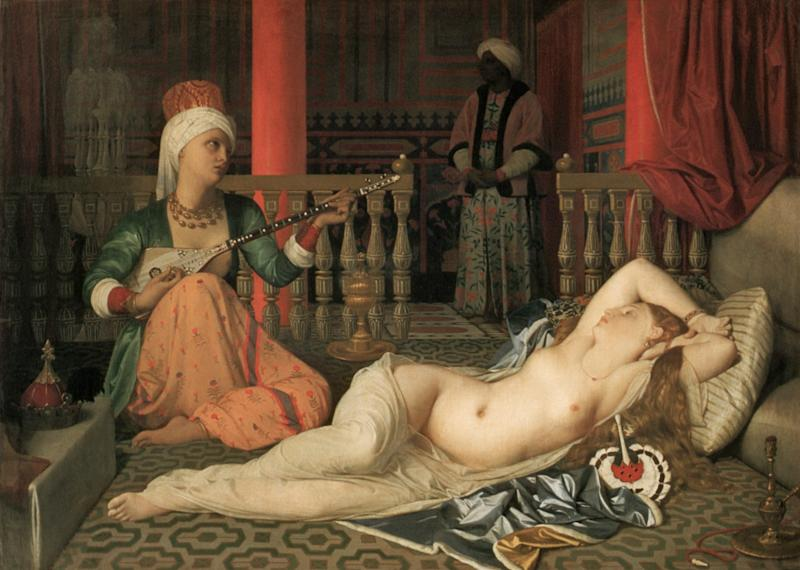 Odalisque with a Slave (1842) by Jean-Auguste-Dominique Ingres - Corbis Historical