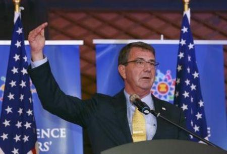 U.S. Secretary of Defense Ash Carter speaks at a news conference at the Asean Defence Ministers Meeting in Kuala Lumpur