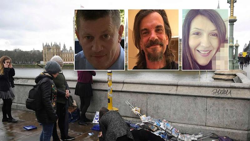 (From left) PC Keith Palmer, Kurt Cochran and Aysha Frade all died in the attack.