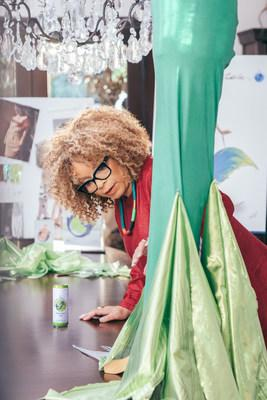Inspired by SpikedSeltzer's West Indies Lime flavor, Ruth E. Carter imagines SpikedSeltzer's mermaid icon as a dynamic, alluring and powerful superhero.