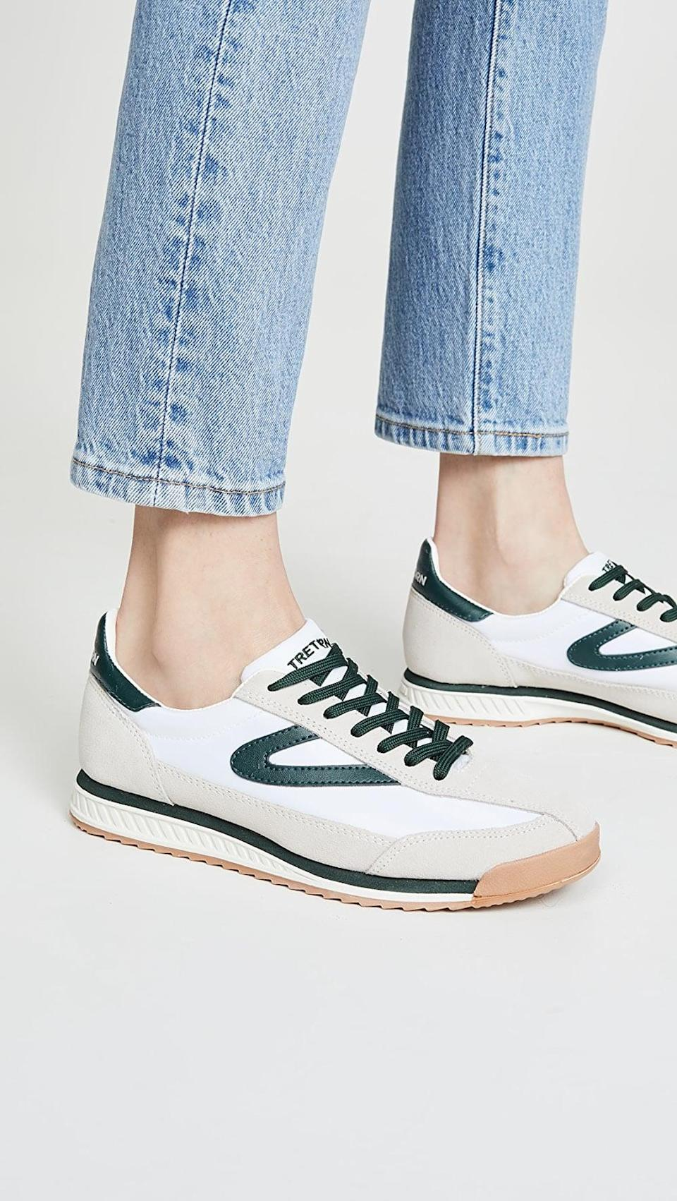 "<p>You can wear these <a href=""https://www.popsugar.com/buy/Tretorn-Rawlins-8-Sneakers-568285?p_name=Tretorn%20Rawlins%208%20Sneakers&retailer=shopbop.com&pid=568285&price=85&evar1=fit%3Aus&evar9=45192674&evar98=https%3A%2F%2Fwww.popsugar.com%2Ffitness%2Fphoto-gallery%2F45192674%2Fimage%2F47420180%2FTretorn-Rawlins-8-Sneakers&list1=shopping%2Cshoes%2Csneakers%2Cnike%2Cadidas%2Crunning%20shoes%2Cworkouts%2Capl%2Cfitness%20shopping&prop13=api&pdata=1"" class=""link rapid-noclick-resp"" rel=""nofollow noopener"" target=""_blank"" data-ylk=""slk:Tretorn Rawlins 8 Sneakers"">Tretorn Rawlins 8 Sneakers</a> ($85) with any outfit, for any activity.</p>"