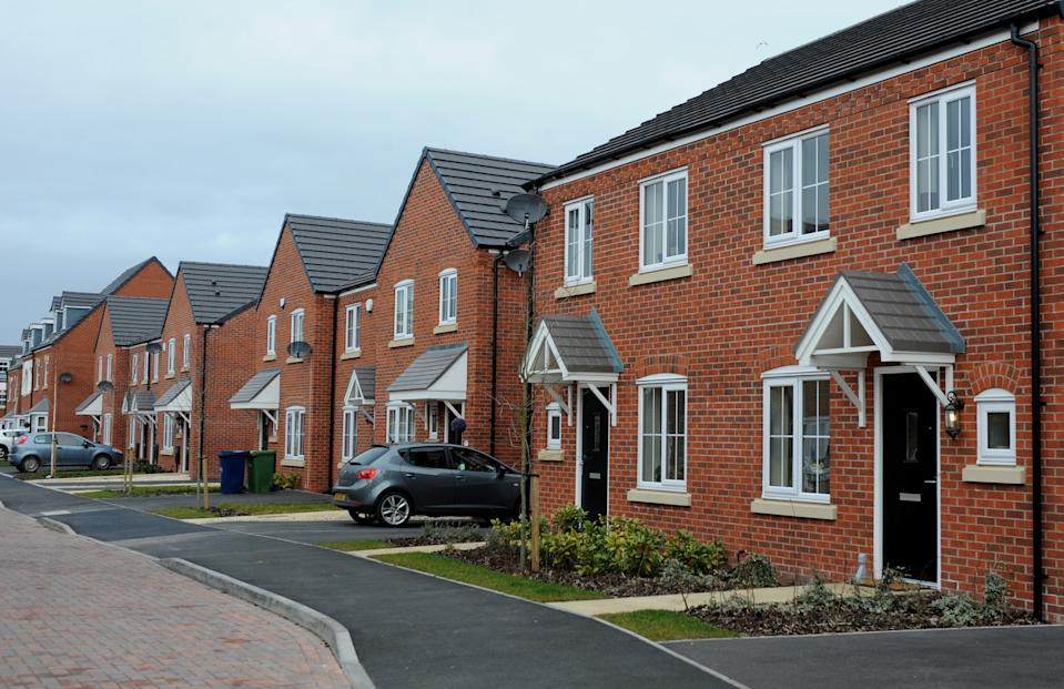 A general view of Bellway homes housing development in Cannock, West Midlands.