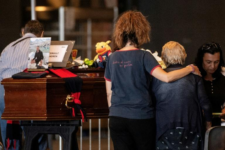 Authorities plan a state funeral service and mass for the dead on Saturday at a hall in Genoa, coinciding with a day of mourning