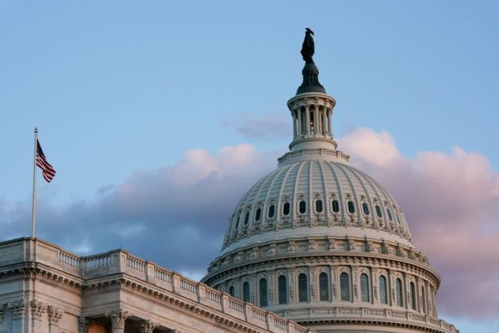 FILE PHOTO: The U.S. Capitol building on Capitol Hill, seen during sunset in Washington