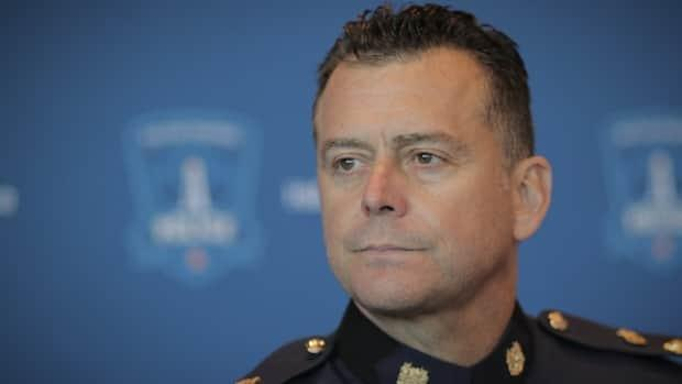 Halifax Regional Police Chief Dan Kinsella says officers used their training to keep people safe during Wednesday's protest.  (Brett Ruskin/CBC - image credit)