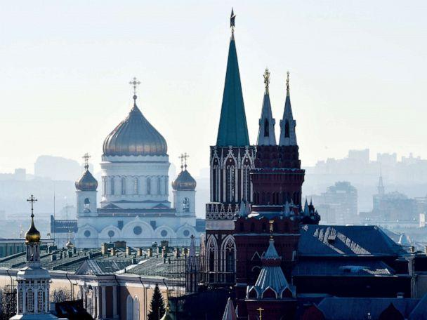 PHOTO: The towers of the State Historical Museum, the Kremlin and the Cathedral of Christ the Saviour stand in central Moscow.  (Kirill Kudryavtsev/AFP via Getty Images, FILE)