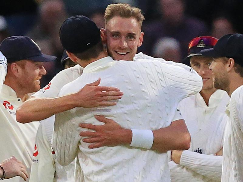 Broad moved to second in the all-time list of England wicket-takers (AFP)