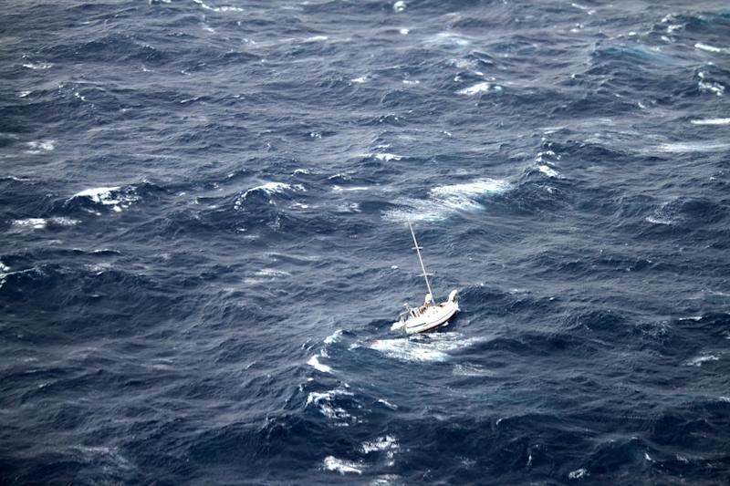 Ship rescues 3 stranded in rough seas off Hawaii