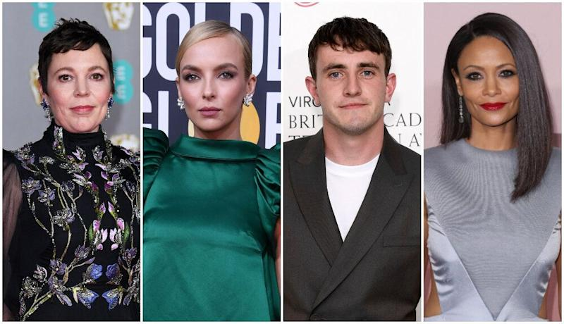Olivia Colman, Jodie Comer, Paul Mescal and Thandie Newton were among the British and Irish nominees at this year's Emmys (Photo: Shutterstock)