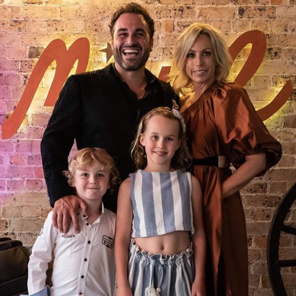 TV chef Miguel Maestre with his family: wife Sascha and kids Morgan and Claudia.