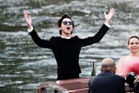 <p>The Venice International Film Festival is back and boy, are celebrities happy about it. Click through to see the stars arriving for the Italian festival (which runs from Sept. 1 to Sept. 11). </p>