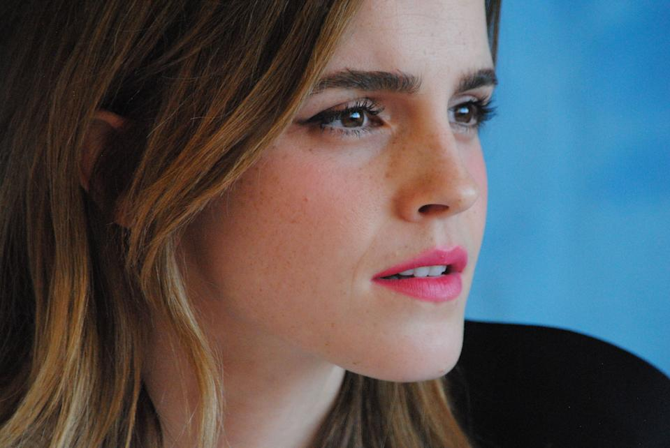 """Emma Watson at the Hollywood Foreign Press Association press conference for """"Beauty and the Beast"""" held in Los Angeles, CA on March 5, 2017. (Photo by Yoram Kahana/Shooting Star) *** NO US TABLOID PUBLICATIONS *** NO USA SALES UNTIL APRIL 5, 2017 *** Please Use Credit from Credit Field ***"""