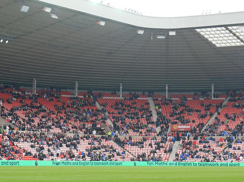 Supporters leaving the Stadium of Light on Saturday (Getty)